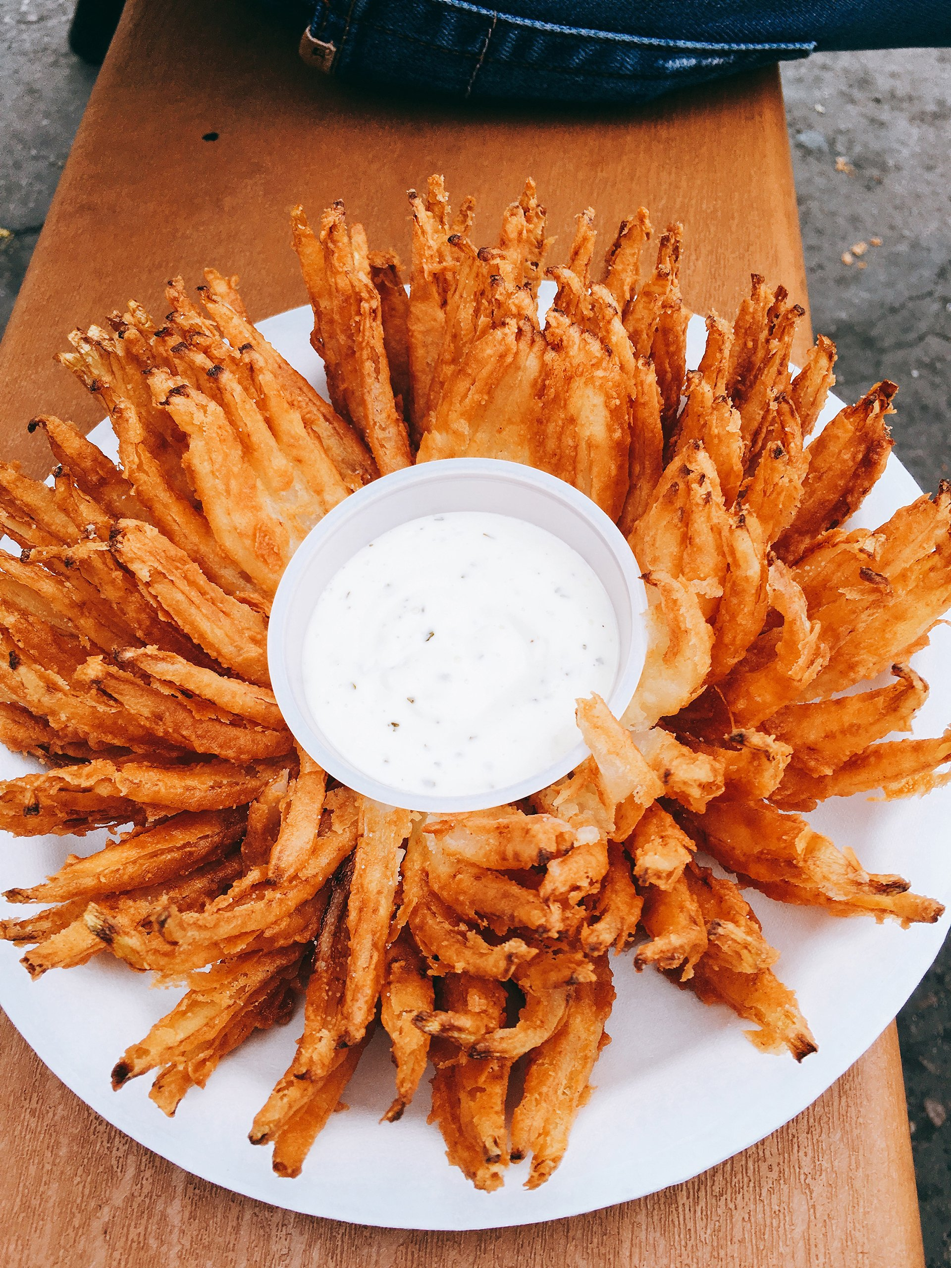 I mean, how often do you allow yourself to devour an entire blooming onion?