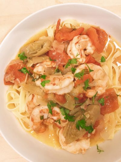 Easy Shrimp Scampi with World Port Seafood