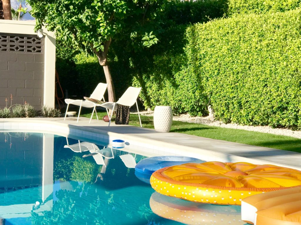 Palm Springs pool lounges