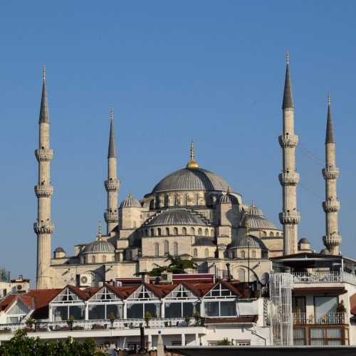 The five minarets of Istanbul's Blue Mosque