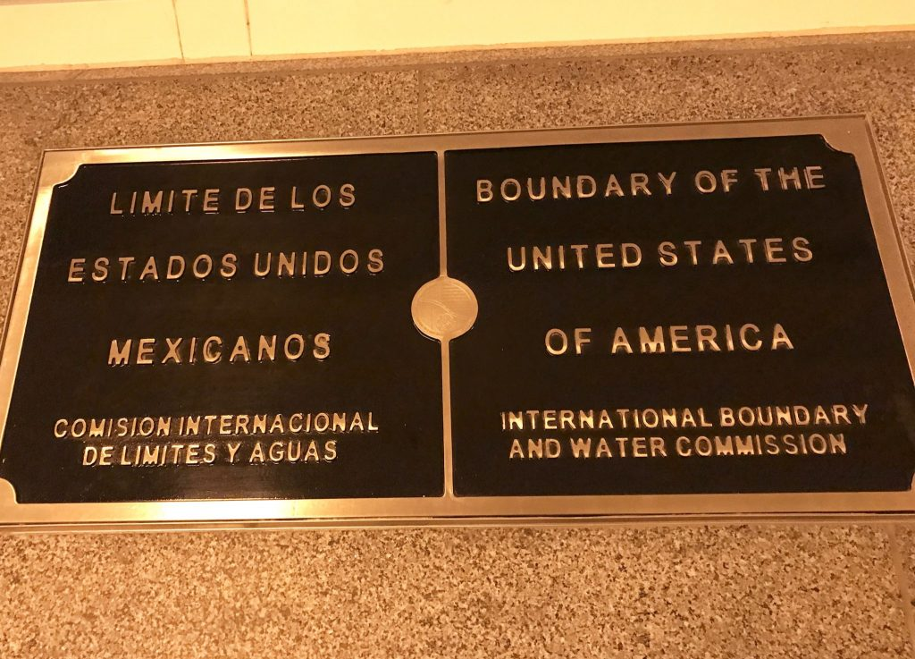 US/Mexico boundary inside CBX Bridge