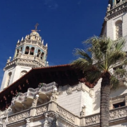 Famous towers of Hearst Castle