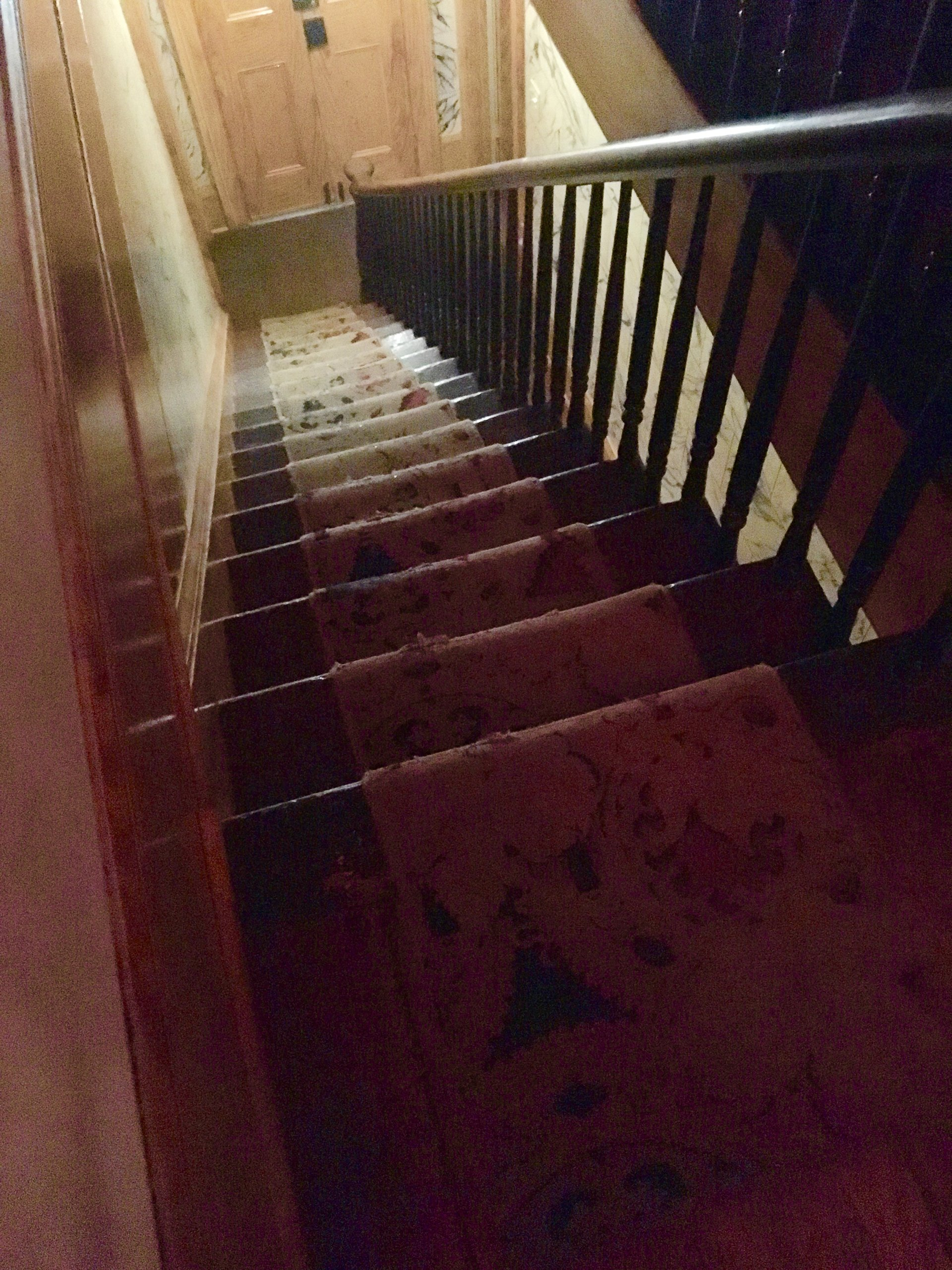 You could easily become a ghost at The Whaley House by trying to navigate this rickety staircase