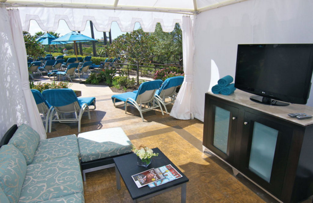 Luxurious cabana at the St. Regis - now named the Monarch Beach Resort