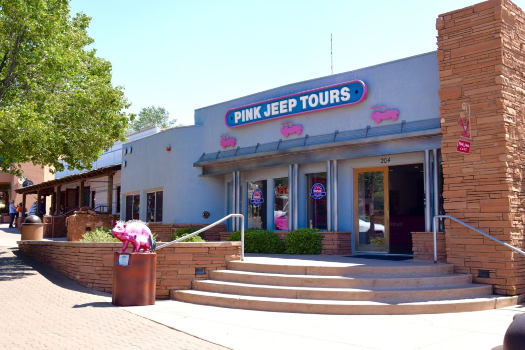 Pink Jeep Tour offices in Sedona Arizona