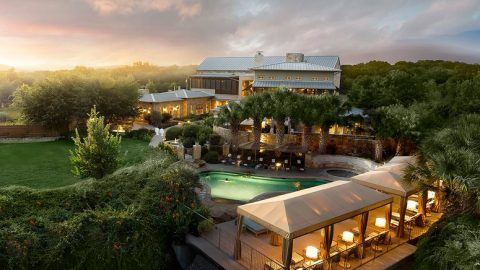 Bird's eye view of Lake Austin Spa Resort