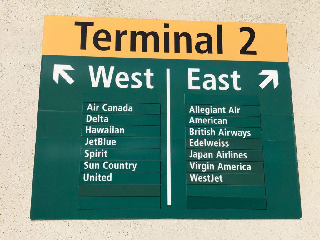 Signage at SAN Terminal 2