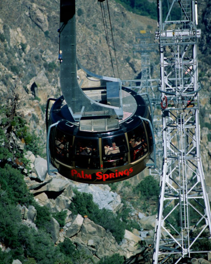 Taking the Palm Springs Aerial Tram to the top