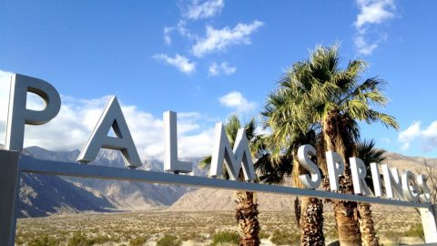 entering Palm Springs