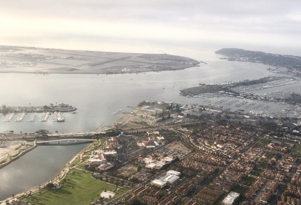 Sky view of San Diego Bay