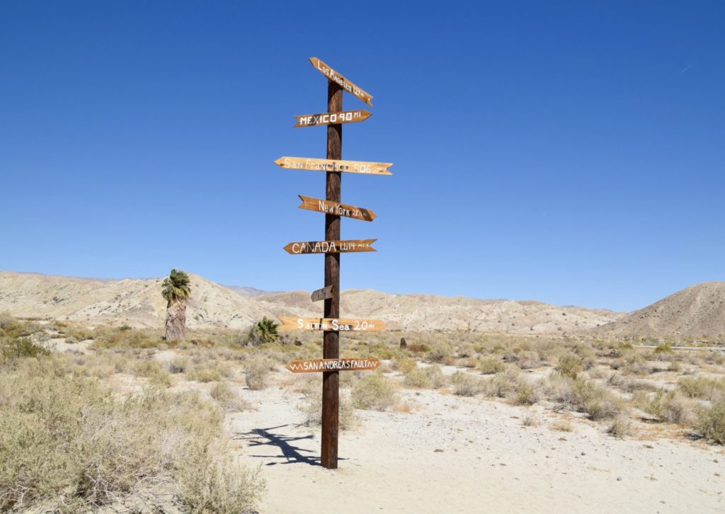 Desert sign post to nowhere