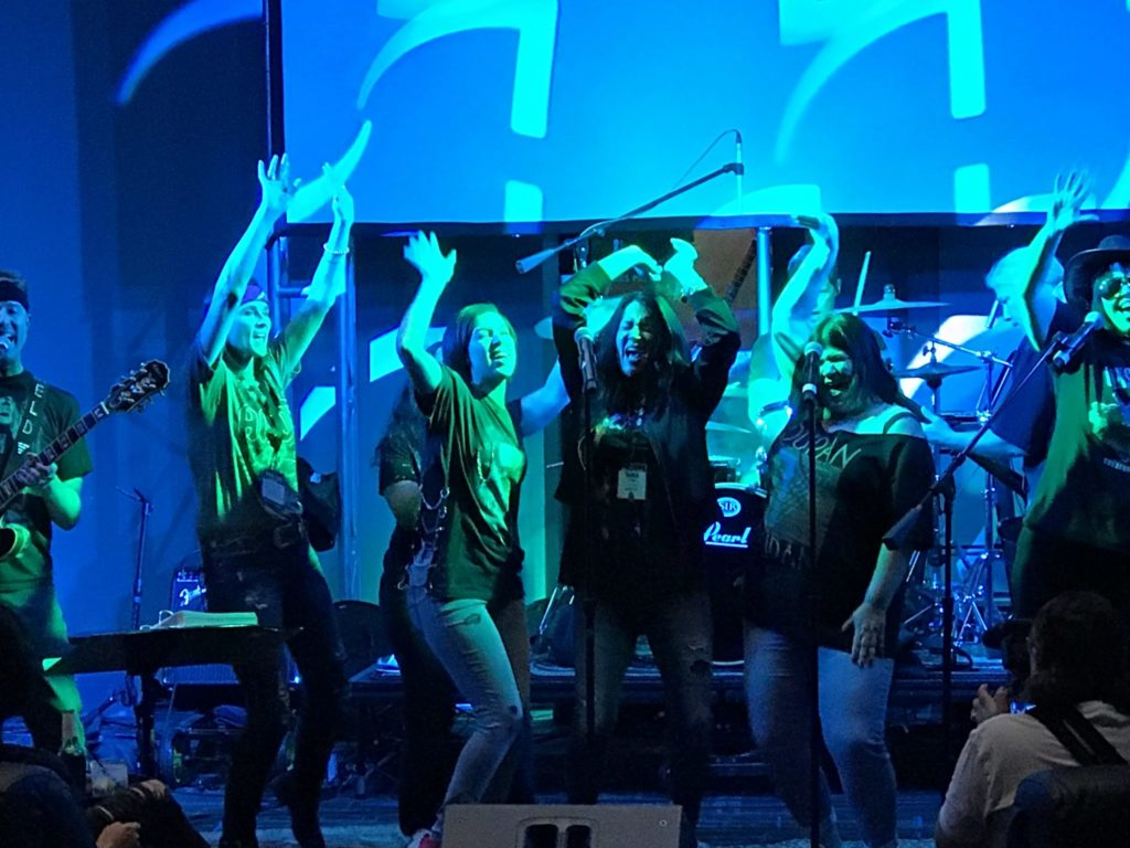 Karaoke at the Kia influencers event