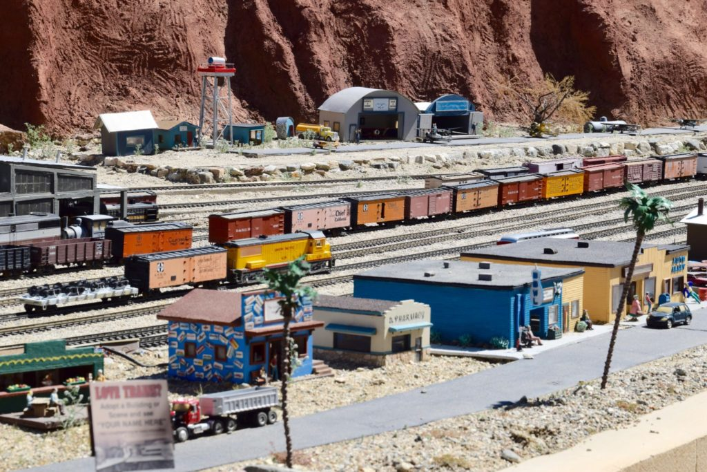 The Living Desert model train exhibit