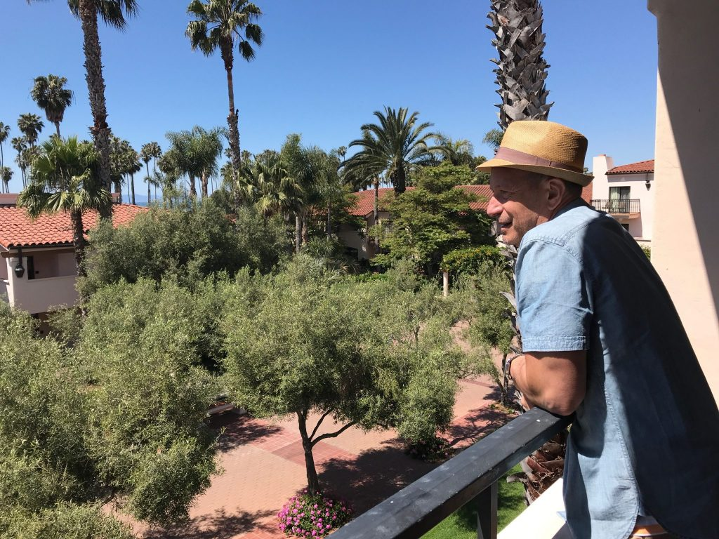 Balcony view at Hilton Santa Barbara