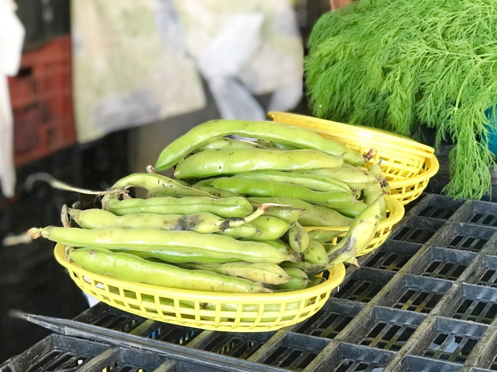 fava beans at Little Italy Mercato