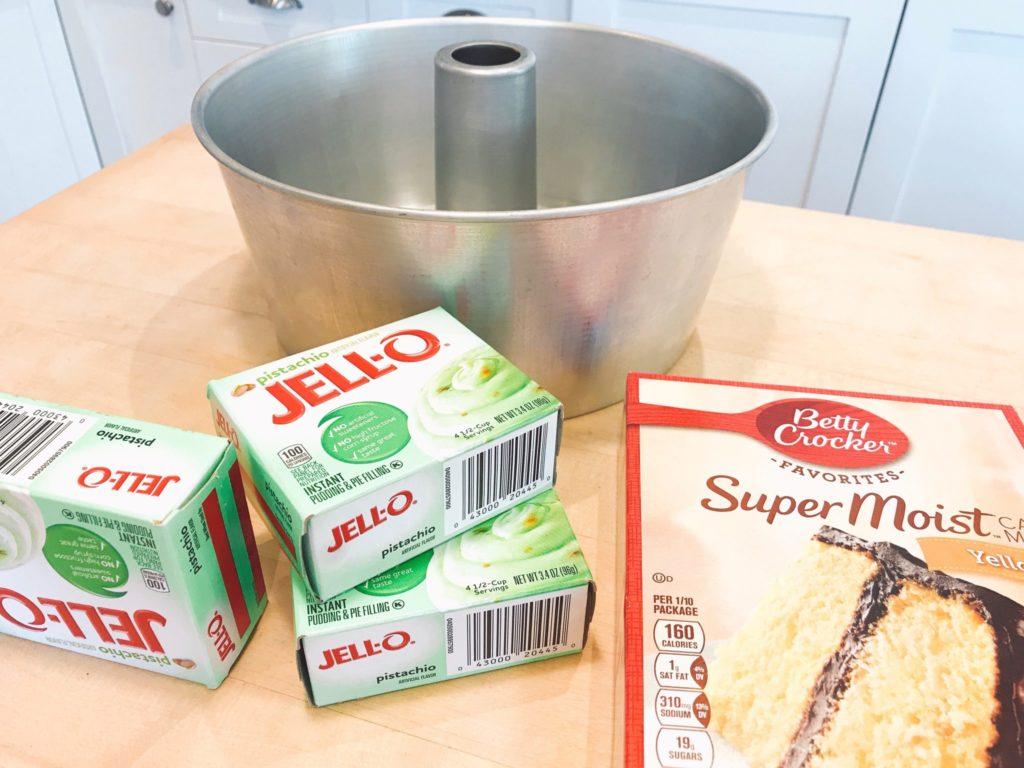 Quick Pistachio Pudding Cake recipe