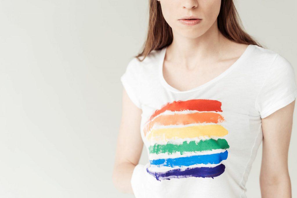 Tshirt with Pride Rainbow flag