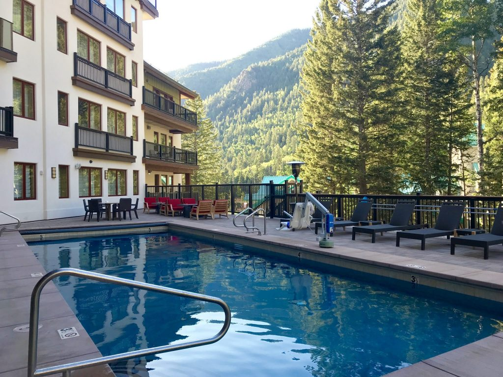 pool at The Blake, Taos Ski Valley