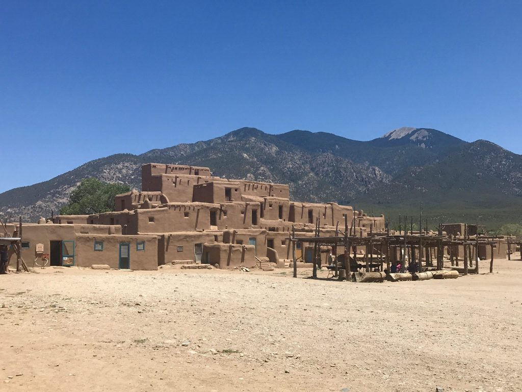 Original dwellings at Taos Pueblo
