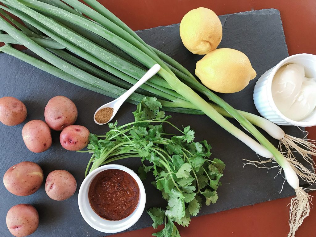 Tandoori Potato Salad ingredients