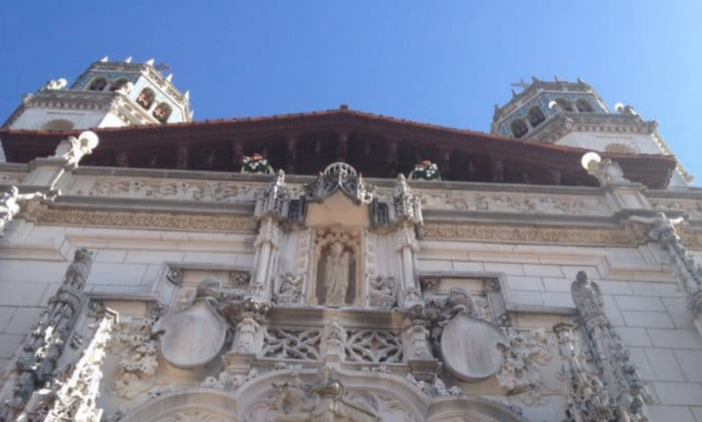 Hearst Castle main entrance facade