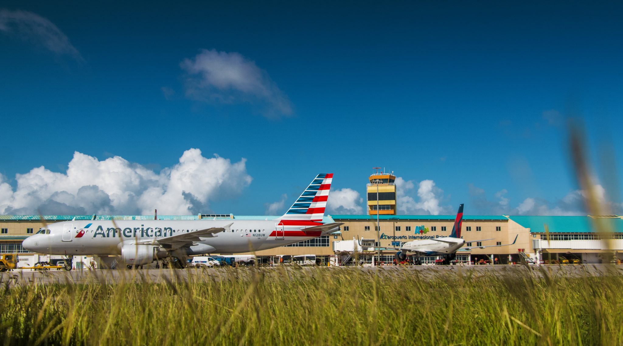 American Airlines at Aruba Airport