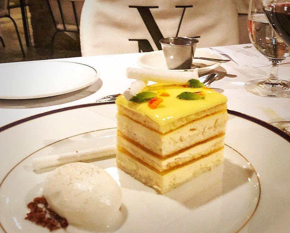 lemon dessert at V. Mertz