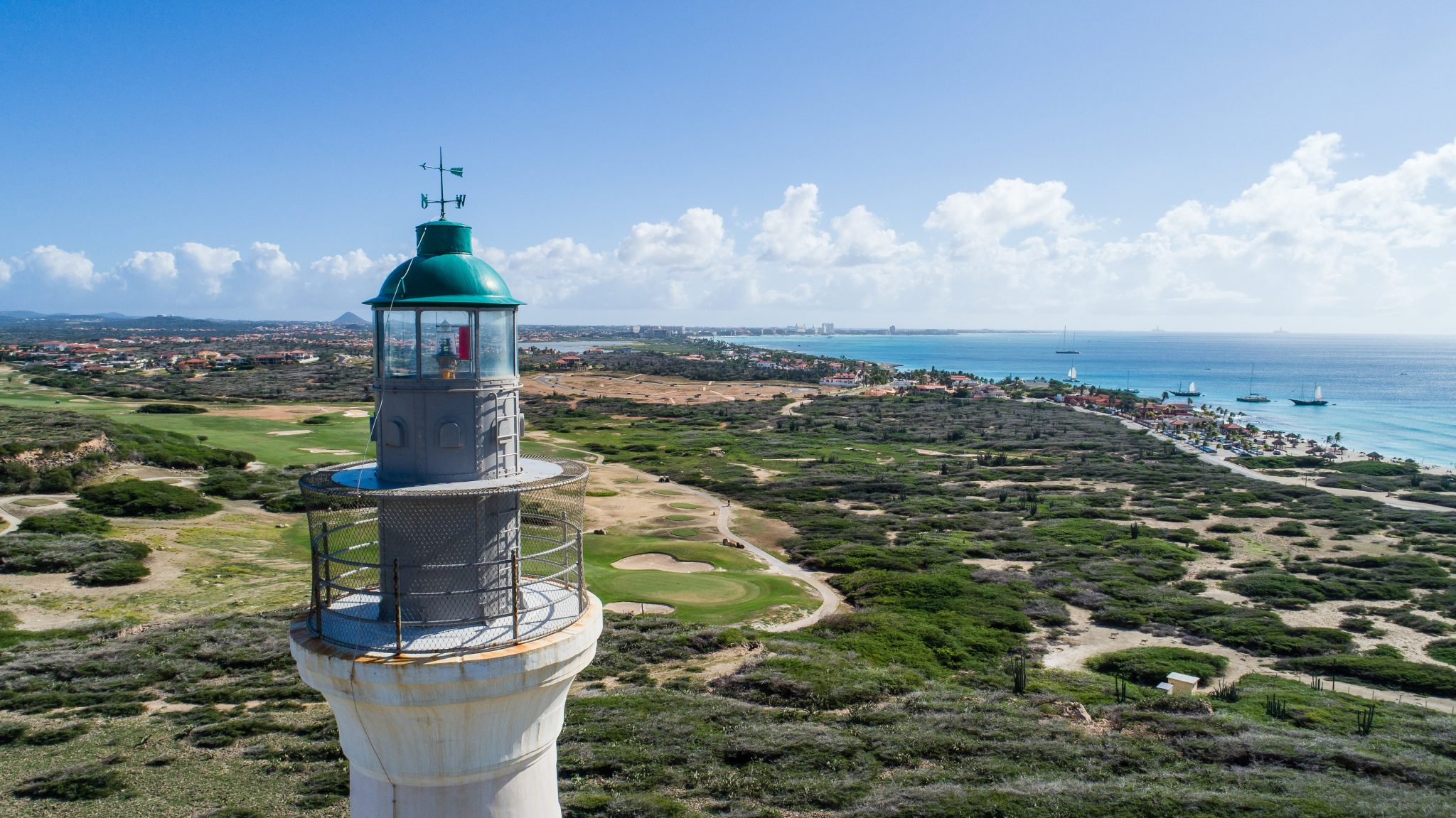 view from California Lighthouse in Aruba