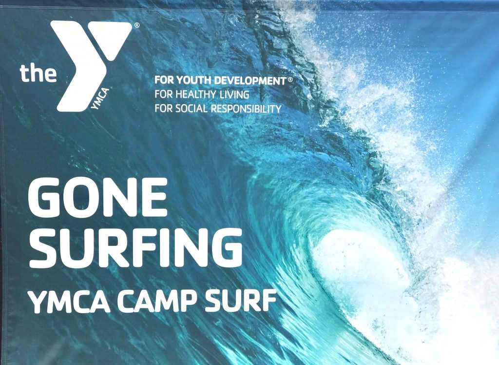 YMCA Camp Surf sign