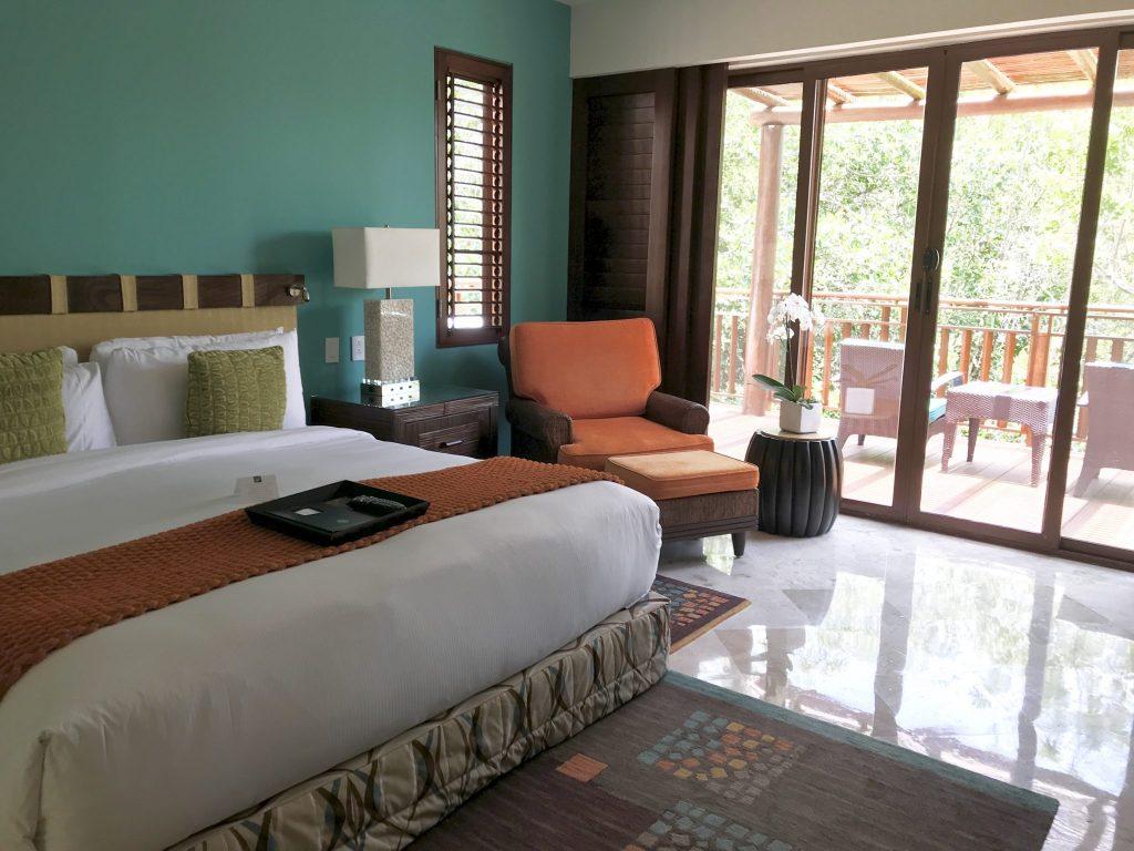 Fairmont Hotel Mayakoba master bedroom