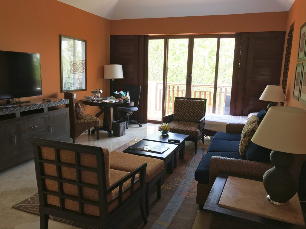 Casita living room at Fairmont Hotel Mayakoba