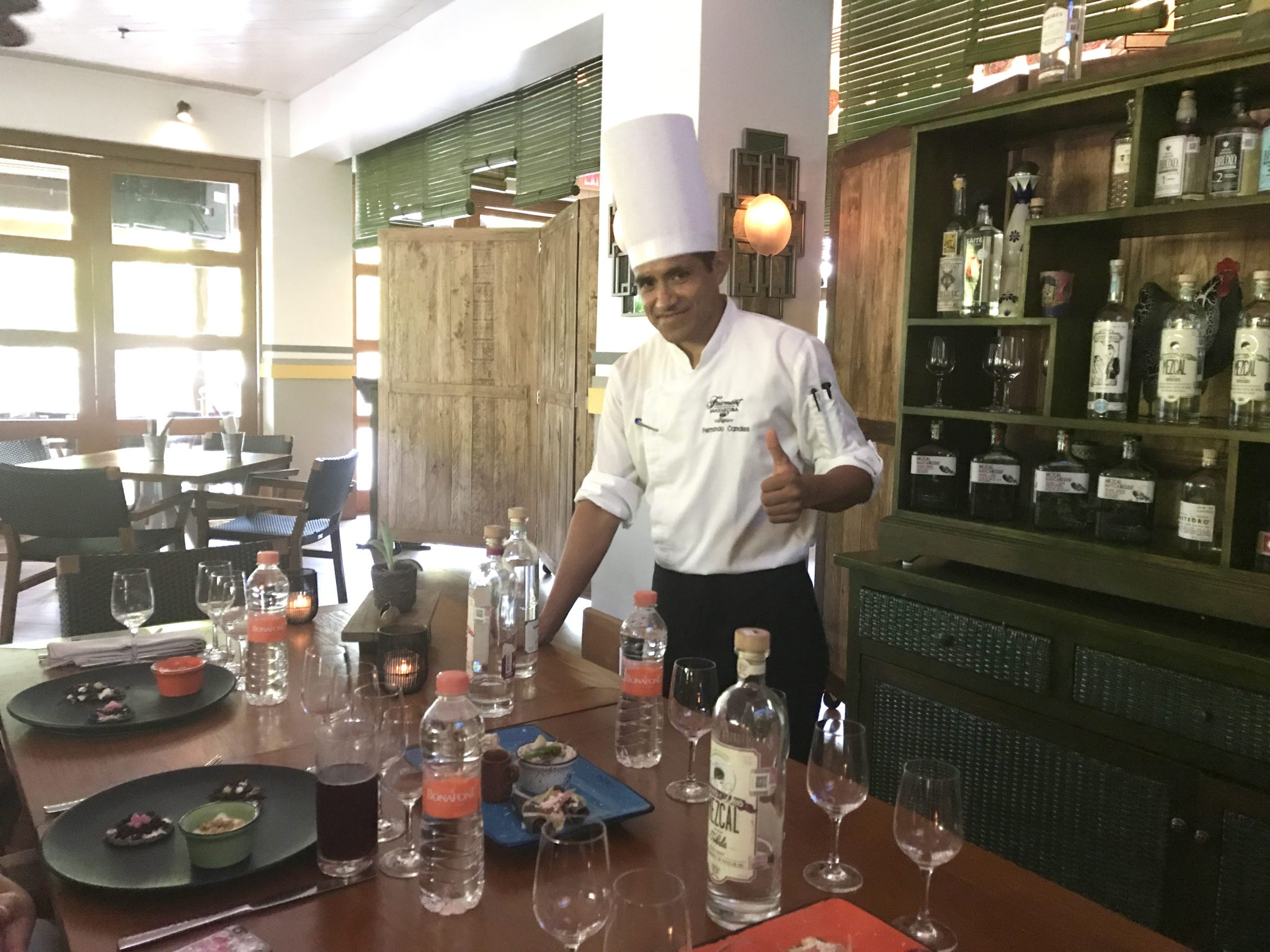 Fairmont Mayakoba Chef serving insects