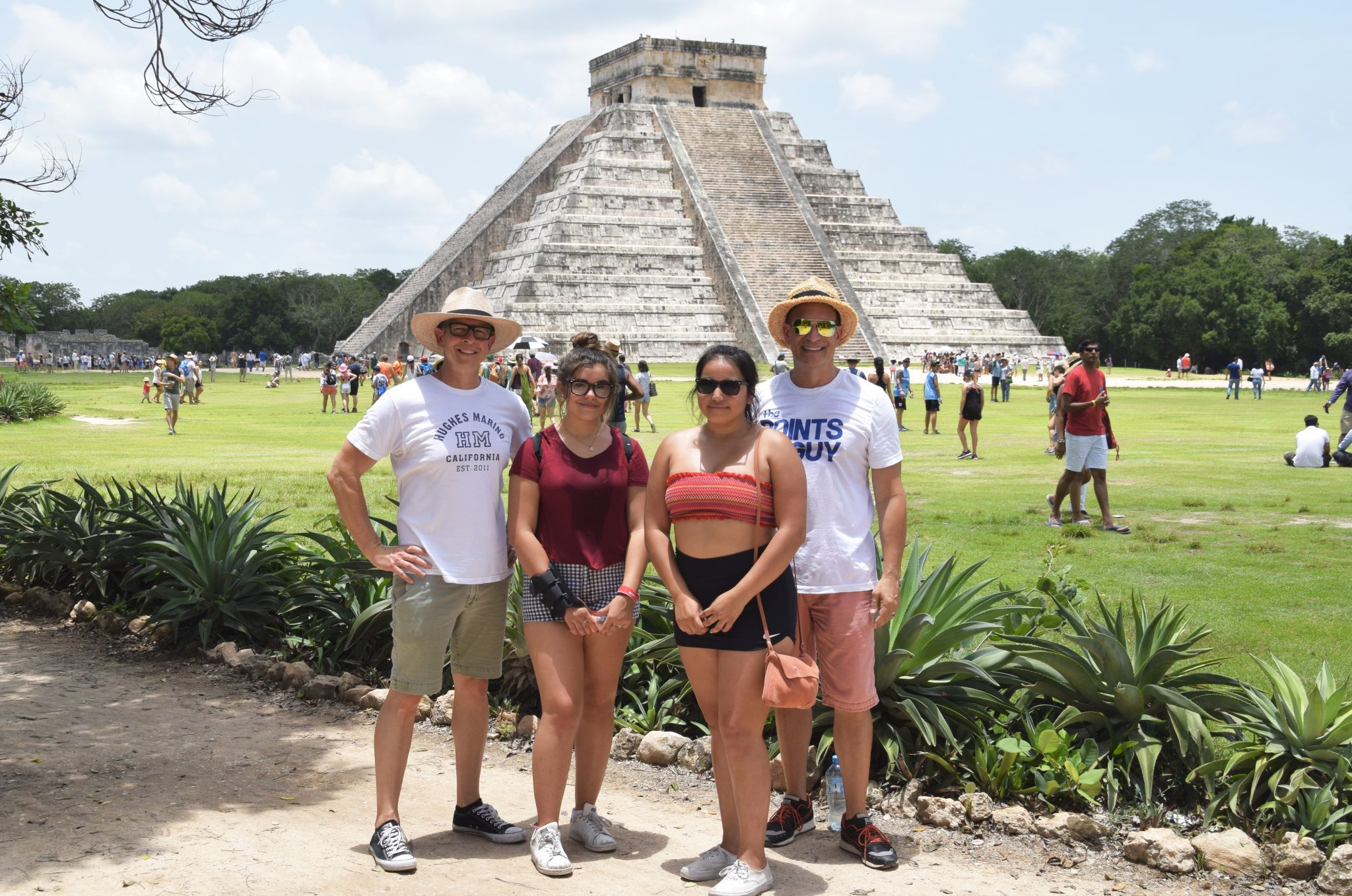 Chichen Itza with kids