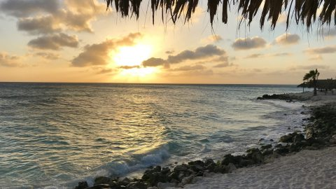 sunset over Divi Beach, Aruba