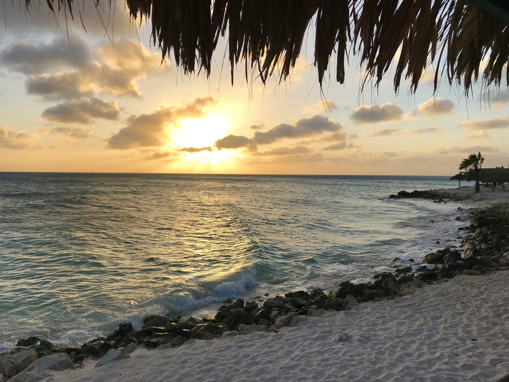 sunset over Divi Beach, Aruba