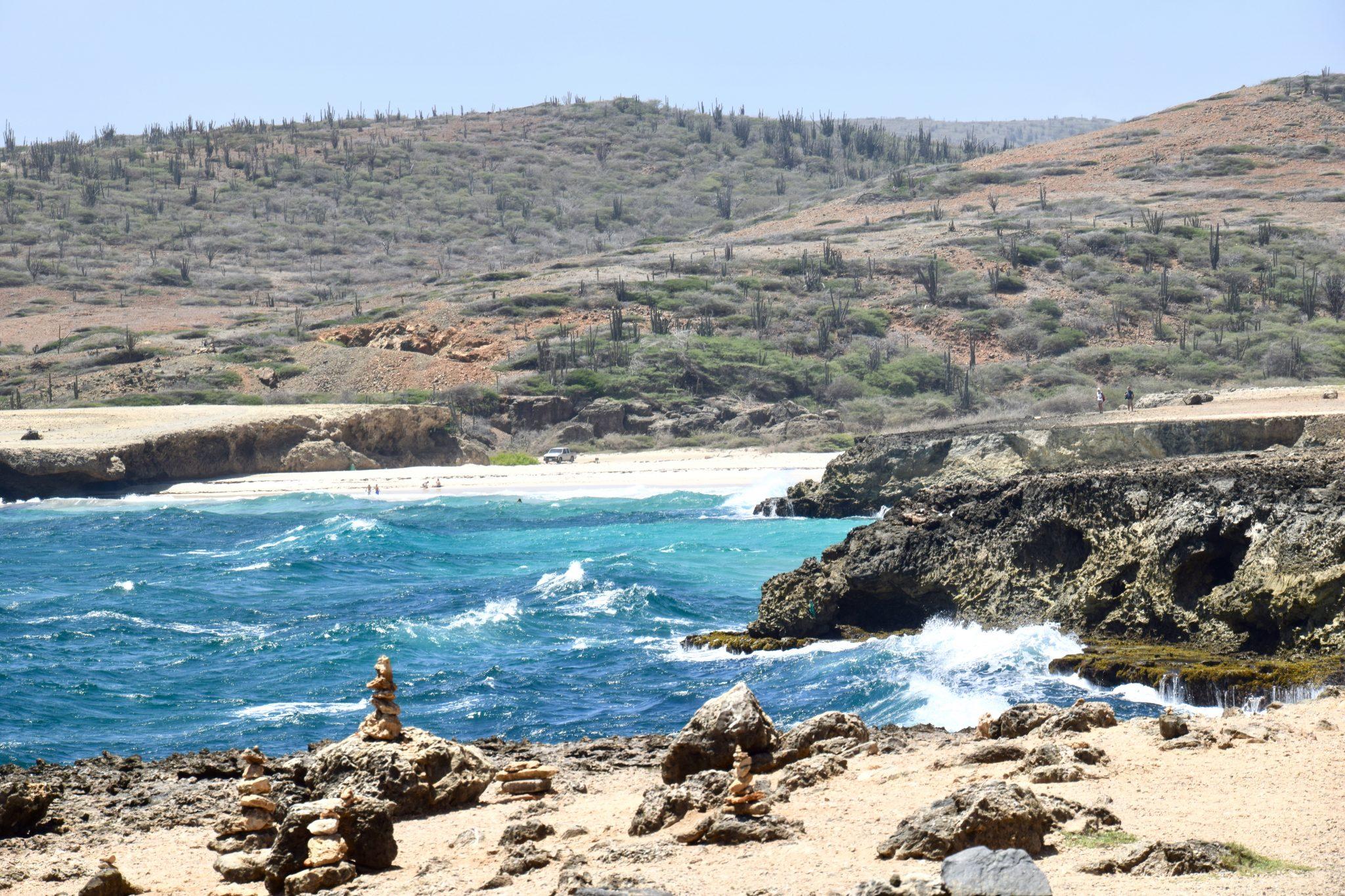 coastline of Aruba's north side