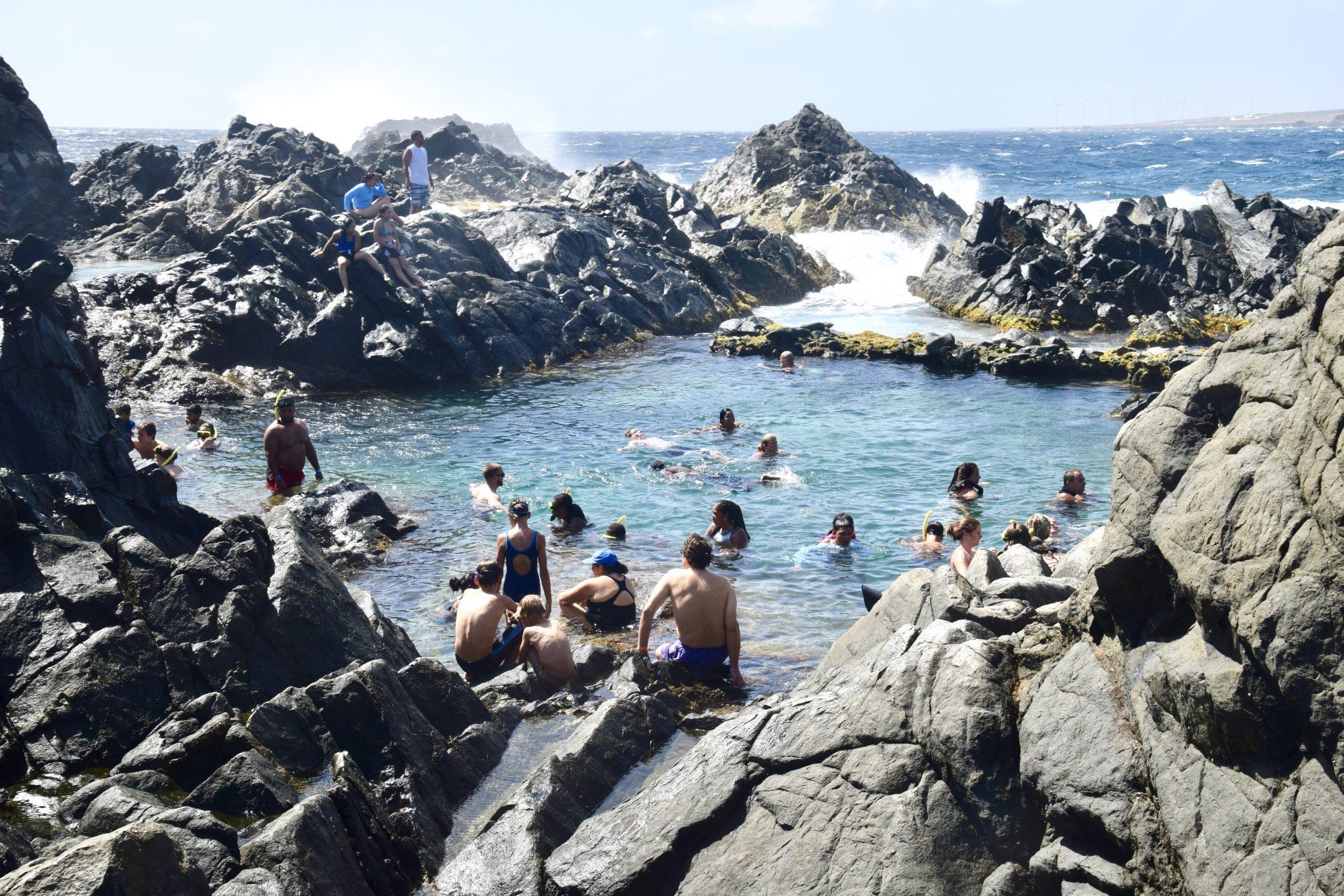 natural swimming hole in Aruba