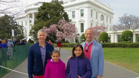 Bailey-Klugh family at the White House
