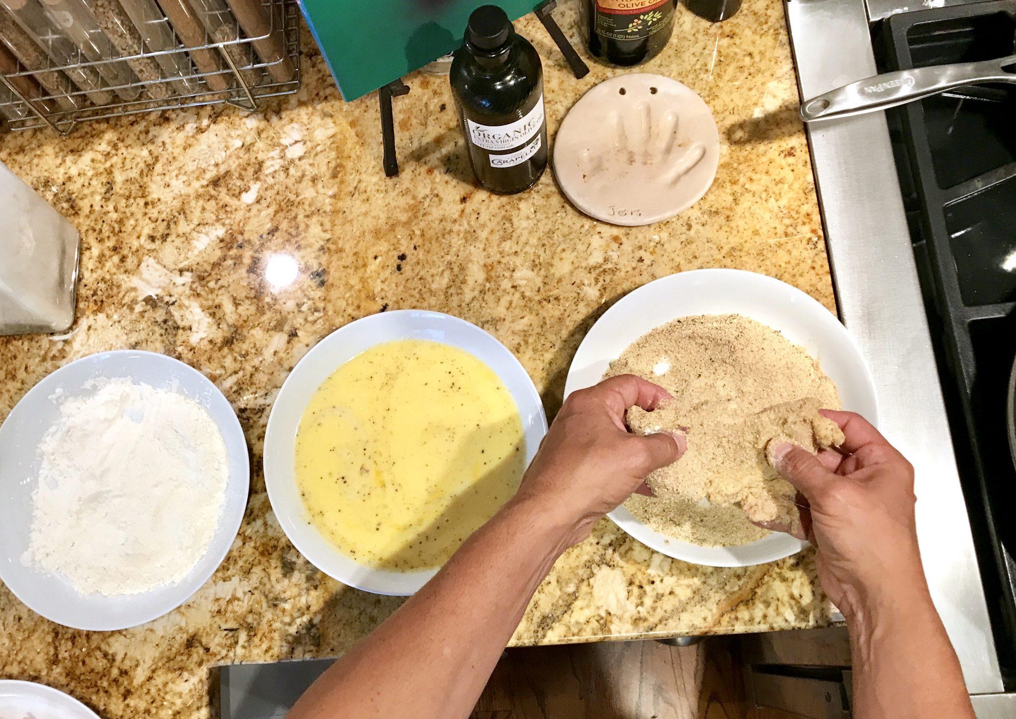 breading chicken for piccata recipe
