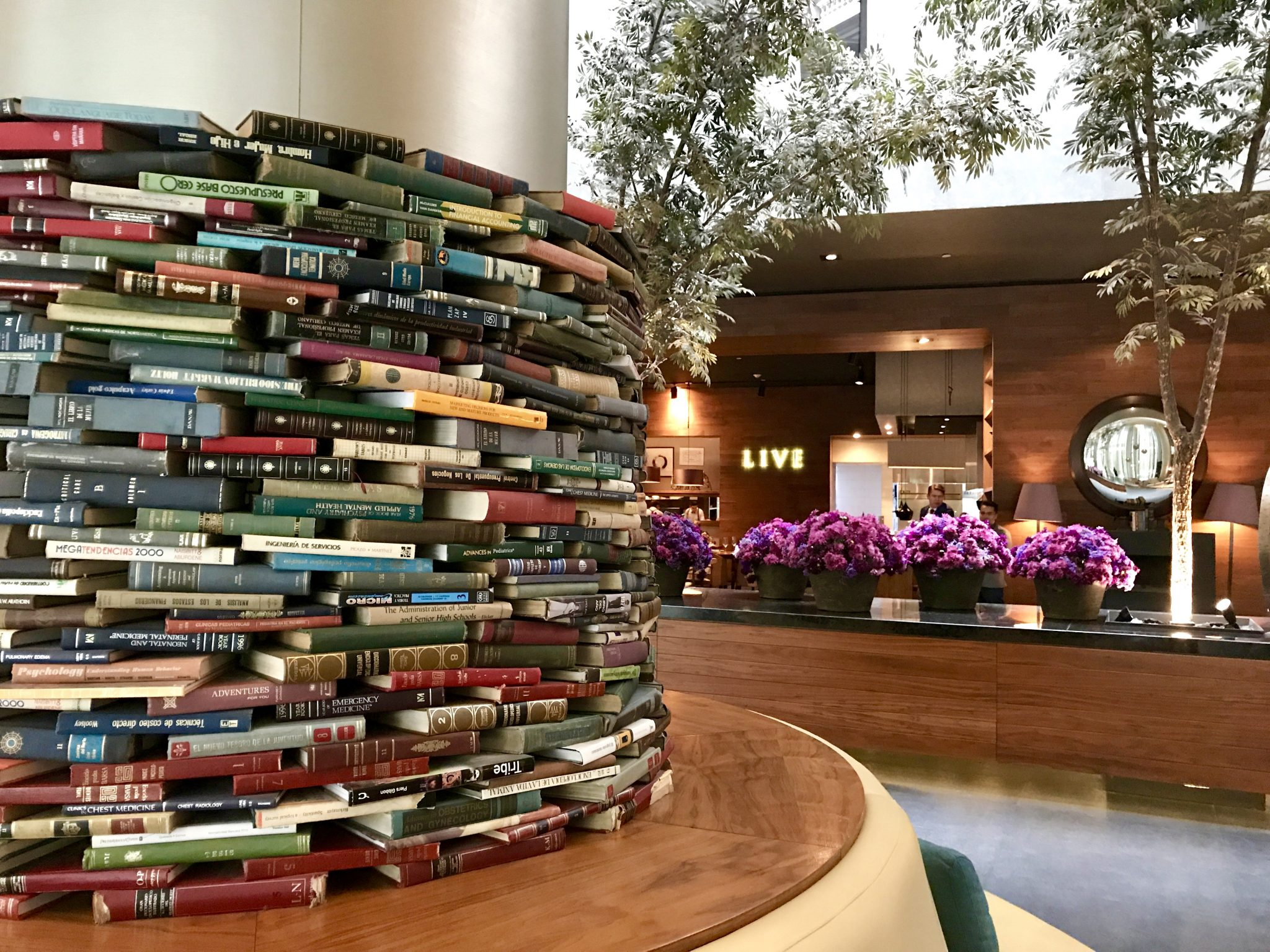 book column at Live Aqua Urbam Resort