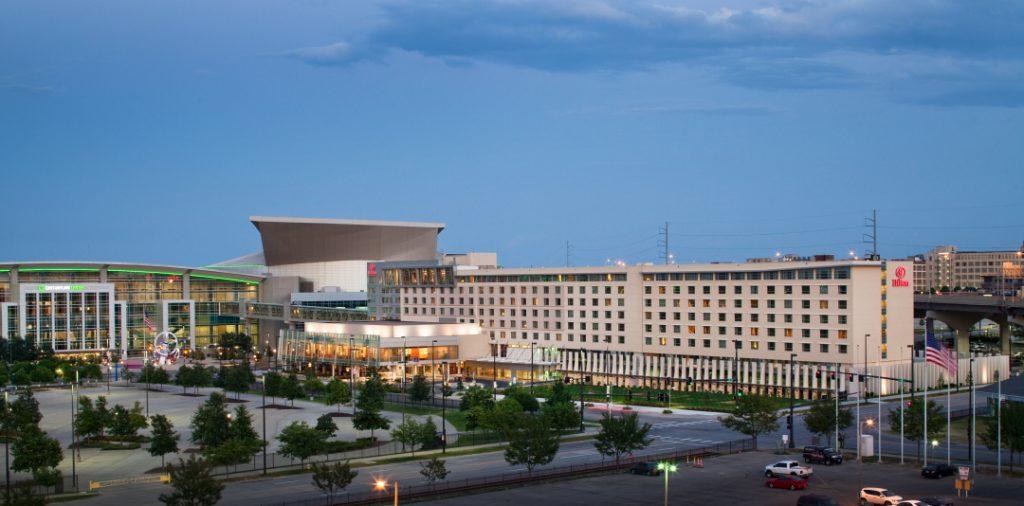 Hilton Omaha exterior full length