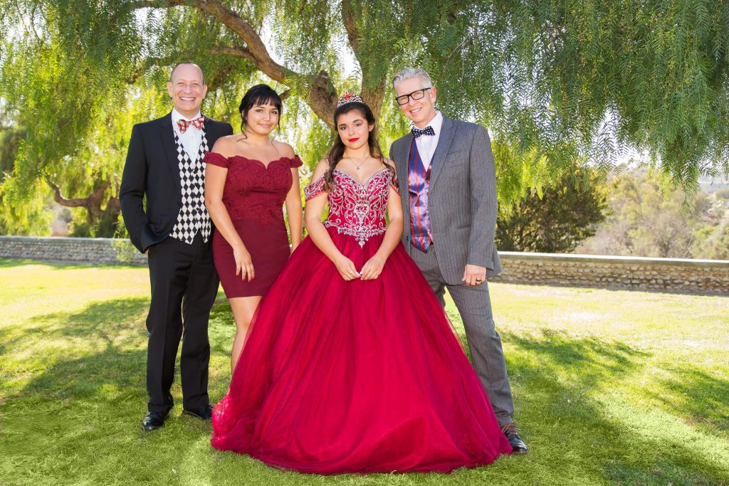 Quinceañera family group photo