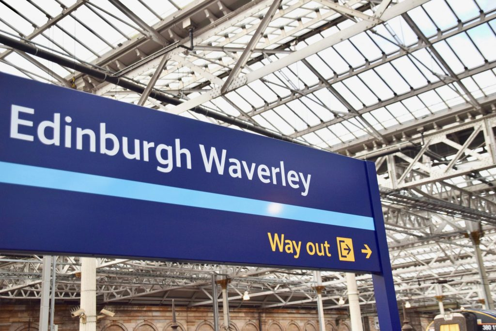 Edinburgh Waverly train station