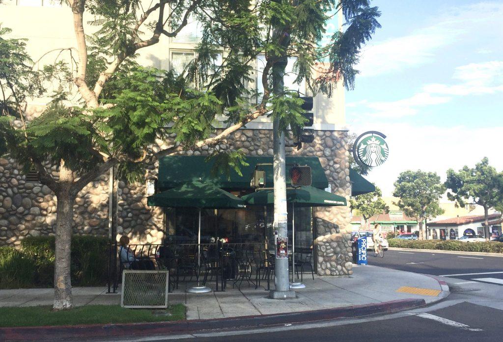 corner Starbucks store exterior