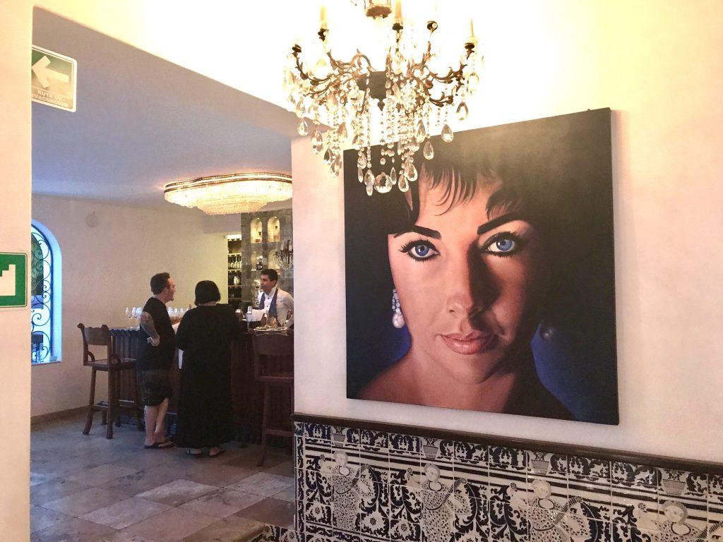 Elizabeth Taylor painting at Casa Kimberly Puerto Vallarta