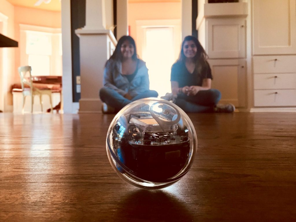 Sphero BOLT with girls in back
