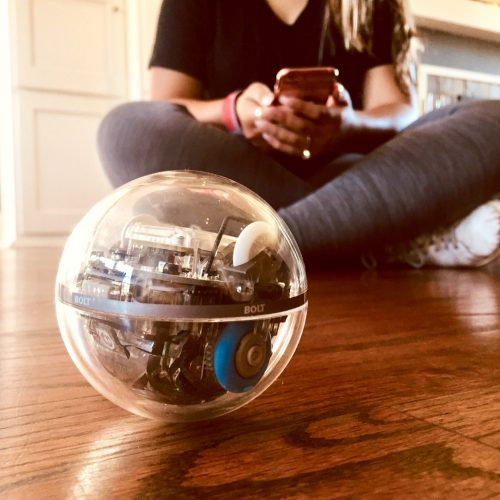 Sphero BOLT operated by young girl