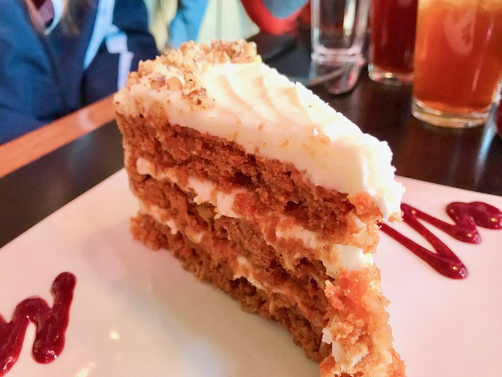 Carrot Cake at Cup Cafe in Hotel Congress Tucson