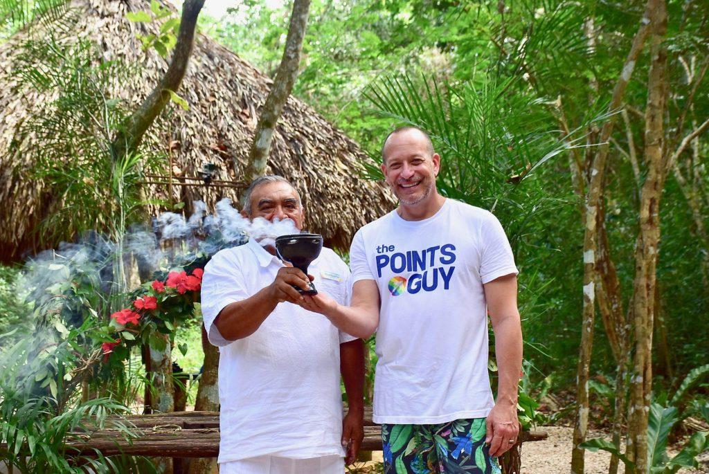 Mayan Shaman blessing at Coba
