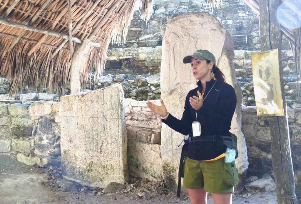 tour guide at Coba Mayan ruins